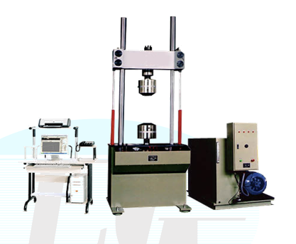 LEP type microcomputer control of dynamic and static fatigue testing machine